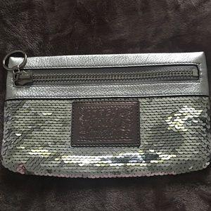 Mini evening Coach bag metallic.